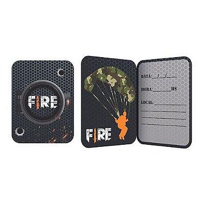 Convite de Aniversário - Festa Free Fire - 16 unidades