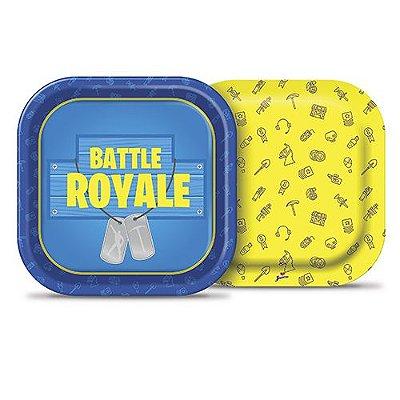 Prato Quadrado - Battle Royale  18cm -16 unidades