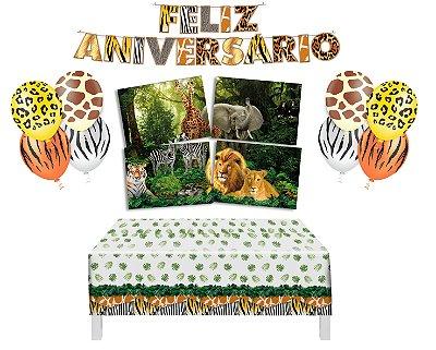 Kit Decoração de Festa 1 - Mundo Animal
