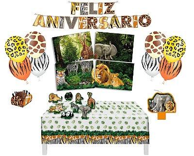 Kit Decoração de Festa 3 - Mundo Animal