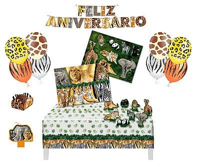Kit Decoração Festa 4 - Mundo Animal