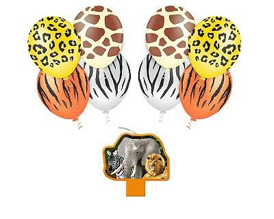 Kit Decoração Festa - Mundo animal