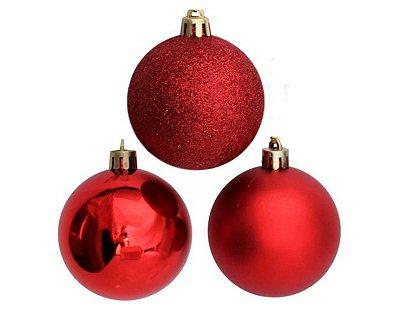 Bola de Natal N°7 - Sortido - Vermelho