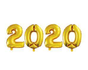 Balão Metalizado 40cm - Dourado - 2020