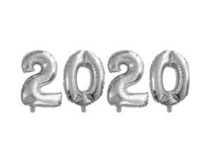 Balão Metalizado 40cm - Prata - 2020