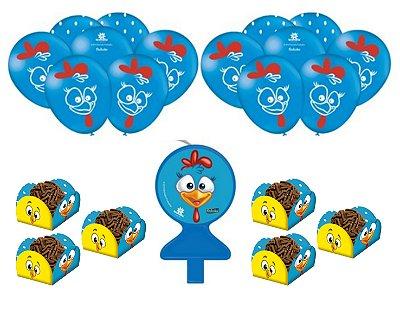 Kit Festa Galinha Pintadinha * Balões Vela Forminhas Doces