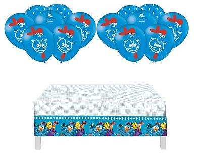 Toalha De Mesa + 25 Balões P/ Festa Tema Galinha Pintadinha