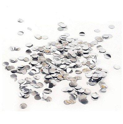 Confete Metalizado - Prata - 2cm