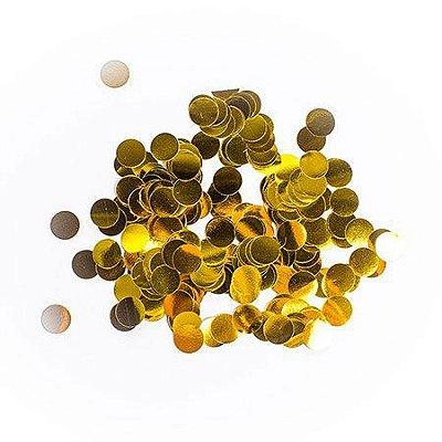 Confete Metalizado - Dourado - 2cm