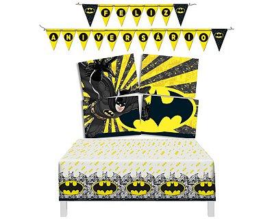 Kit Decoração De Festa - Batman Geek - ( Painel + Toalha + Faixa )