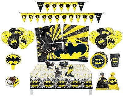Batman Geek - Kit Decoração Festa Completa Para 16 Crianças