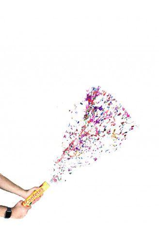 Lança Confete - Colorido - 30 cm - Com Grade Protetora