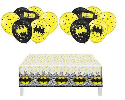 Kit Decoração - Batman Geek - Toalha De Mesa + 25 Balões