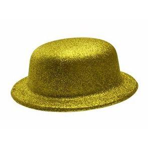Chapéu - Coquinho de Plástico com Glitter - Dourado