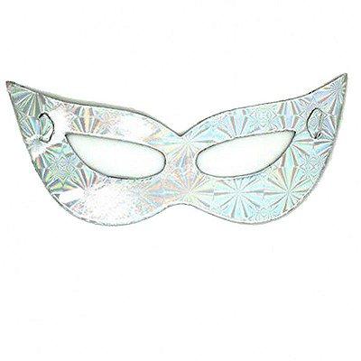 Máscara de Carnaval - Papel - Prata - 10 Unidades