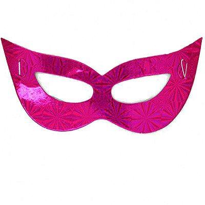 Máscara de Carnaval - Papel - Rosa - 10 Unidades