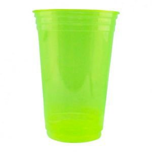 Copo Descartável 300 ml - Verde Neon