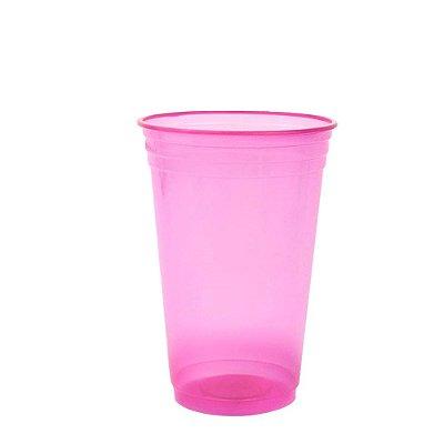 Copo Descartável 300 ml - Rosa Neon