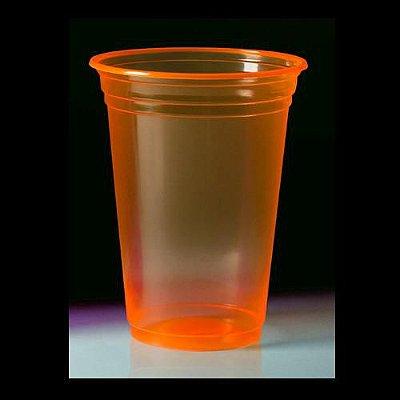 Copo Descartável 300 ml - Laranja Neon