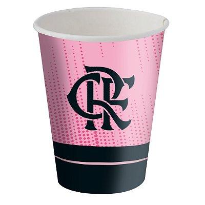 Copo de Papel 200ml - Flamengo Rosa - 08 unidades