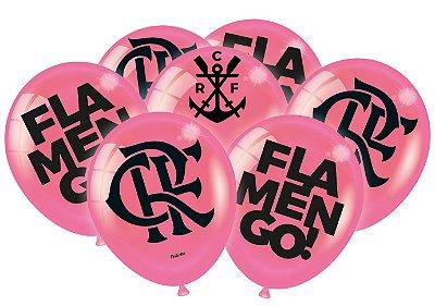 Balão Especial 9 Polegadas - Flamengo Rosa- 25 unidades