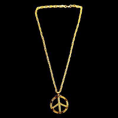 Cordão Ostentação - Hippie - Prata - 31cm