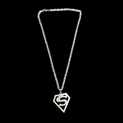 Cordão Ostentação - Superman - Prata - 31cm