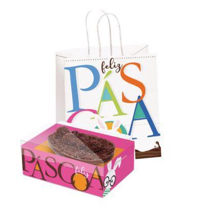 Páscoa - Kit Sacola e Caixa  - Feliz Páscoa
