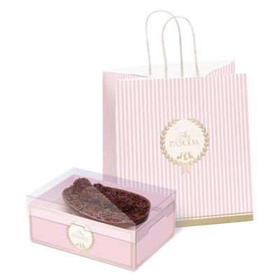 Kit Sacola + Caixa Ovo de Colher - Royalle Rosa