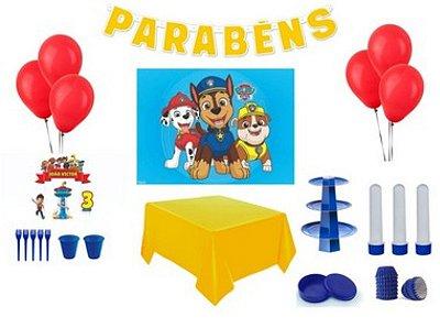 Kit Decoração de Festa Especial - Patrulha Canina