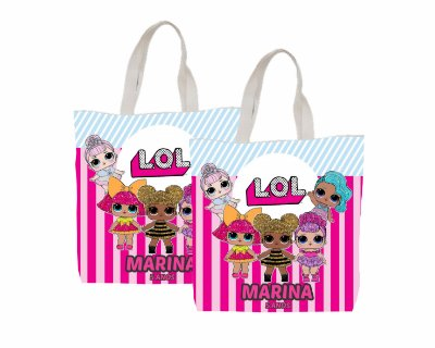 10 Eco Bag Personalizada - 25 x 30 - LOL