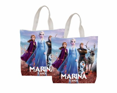 10 Eco Bag Personalizada - 25 x 30 - Frozen