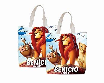 10 Eco Bag Personalizada - 25 x 30 - O Rei Leão