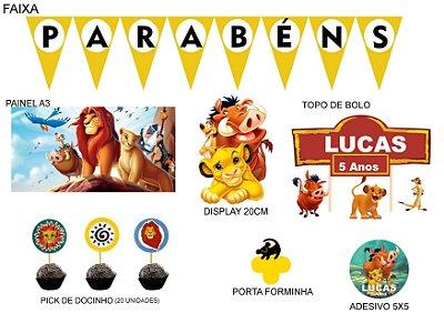 Kit Festa Decoração  Espetacular Personalizado - O Rei Leão