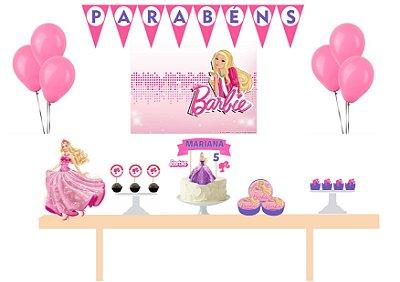 Kit Festa Espetacular Personalizado - Barbie