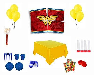 Kit Decoração Especial - Mulher Maravilha - Motoboy Pr. da bandeira
