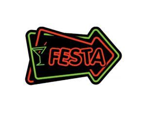Placa MDF - Festa Neon