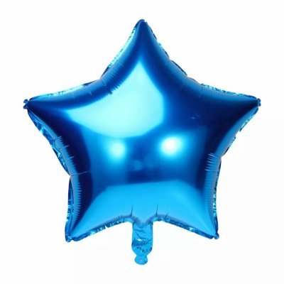 Balão Metalizado  - Estrela Azul- 45cm
