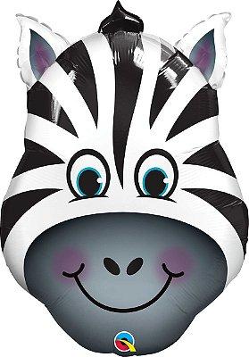 Balão Metalizado -  Zebra Safari -  45cm