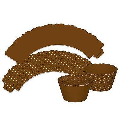 Saia de Cupcake - Marron - 12 Unidades