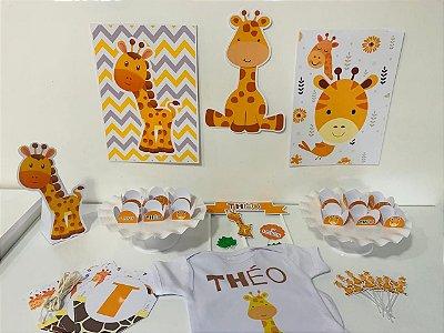 Kit Festa Personalizada  Completo - Girafinha + Body
