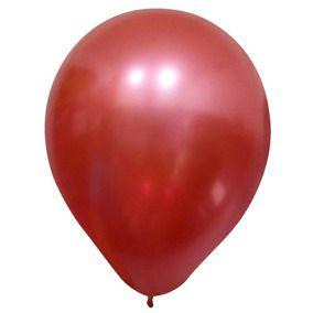 Balões Cromado Latex N 10 - Vermelho - 25 und- Pic Pic