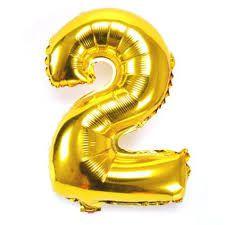 Balão Numero 2 Metalizado 45cm
