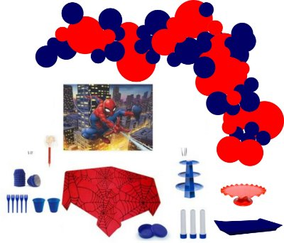 Kit Decoração de Festa Master - Homem Aranha