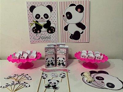 Kit Festa Personalizada Panda Rosa