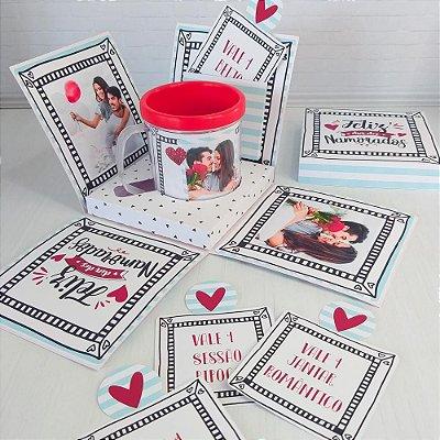 Caixa Explosão + Caneca Dia dos Namorados