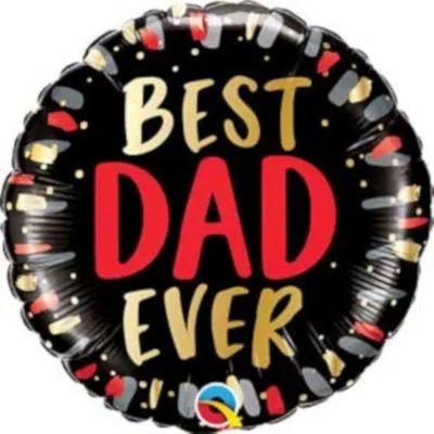 Balão Metalizado  Best Dad Ever - Melhor Pai de Todos