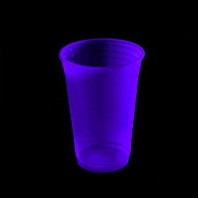 Copo Descartável  Premium 300 ml - Roxo Neon