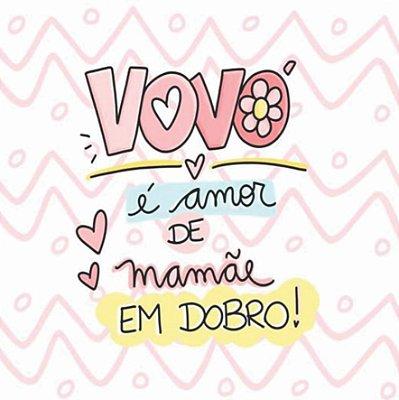 Almofada Personalizada - Vovó é amor de Mamãe em Dobro