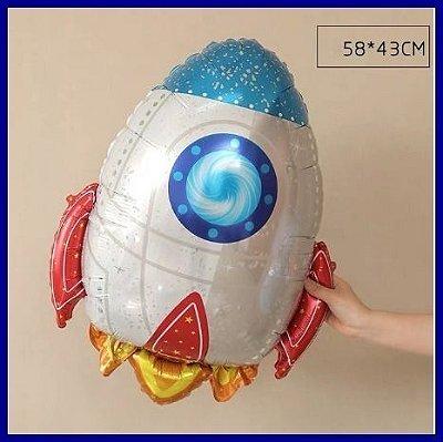 Balão Metalizado Foguete - 74cm
